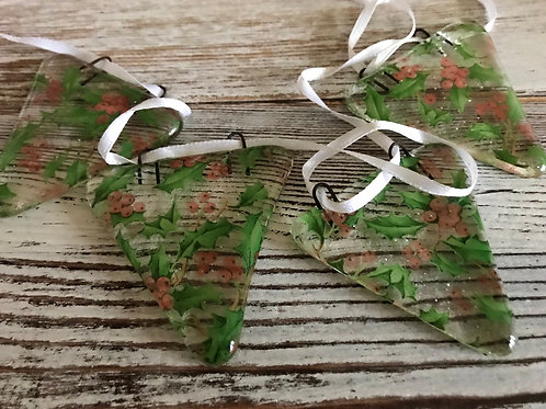 Holly Fused Glass Bunting