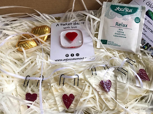"""""""Love in a Box"""" Fused Glass Gift Parcel"""
