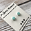 Thumbnail: Mint Ombre earrings on sterling silver studs