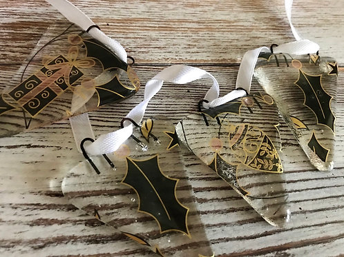 Christmas Eve Fused Glass Bunting