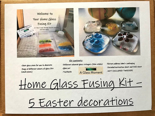Home Glass Fusing Kit - Five Easter Decorations