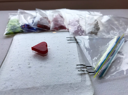 Home Glass Fusing Kit - Hearts and Pinks