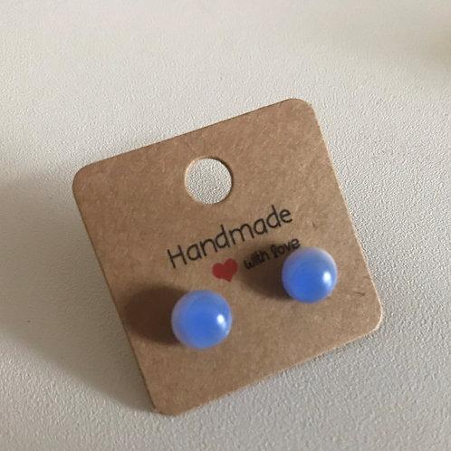 Blue Ombre II earrings on sterling silver studs