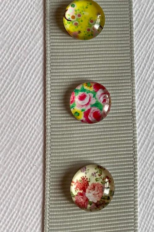 Summer floral pin badges