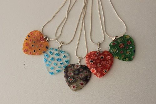 Heart necklaces on chain