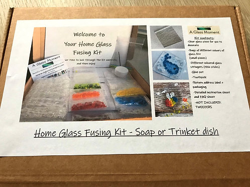 Home Glass Fusing Kit - Soap Dish/Trinket Dish