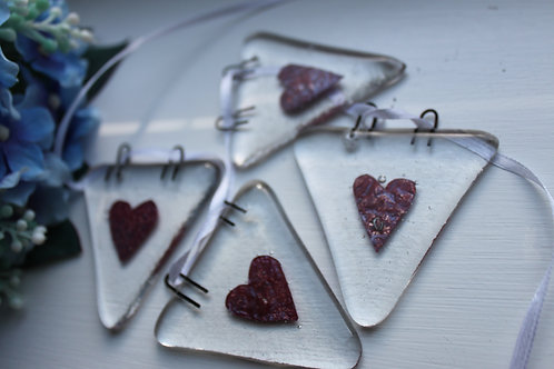 Copper Heart Bunting