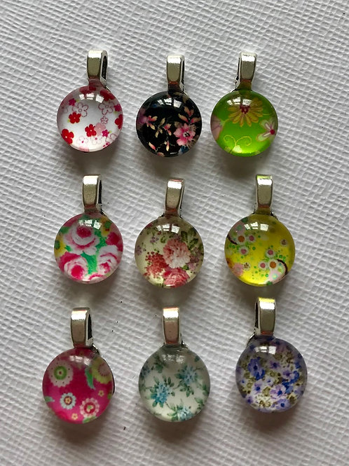 Limited edition Summer floral pendants