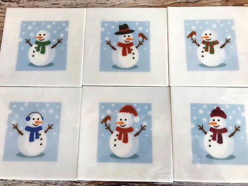 Snowmen coasters