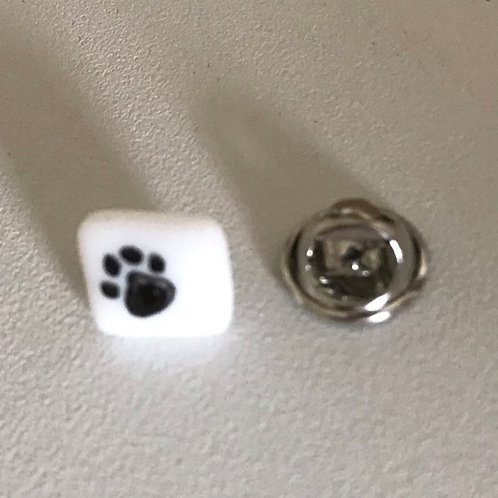 Pawprint pin badges