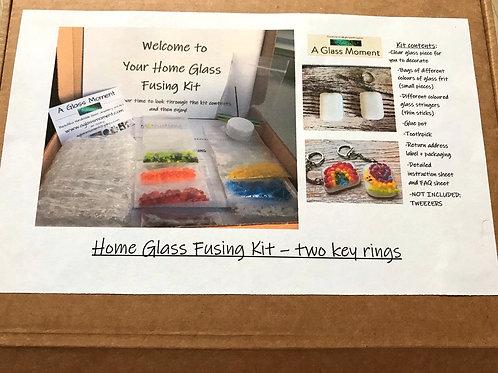 Home Glass Fusing Kit - Two key-rings
