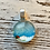 Thumbnail: Winter scene pendant and chain (not shown)