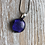Thumbnail: Fused glass Royal purple pendant and chain