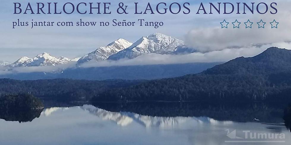 Bariloche com neve e Lagos Andinos