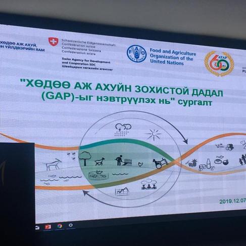 Монгол ногоо төслийн Хууль эрх зүйн орчин төслөөс ХААЗД-г нэвтрүүлэх нь сэдэвт сургалт зохион байгуу