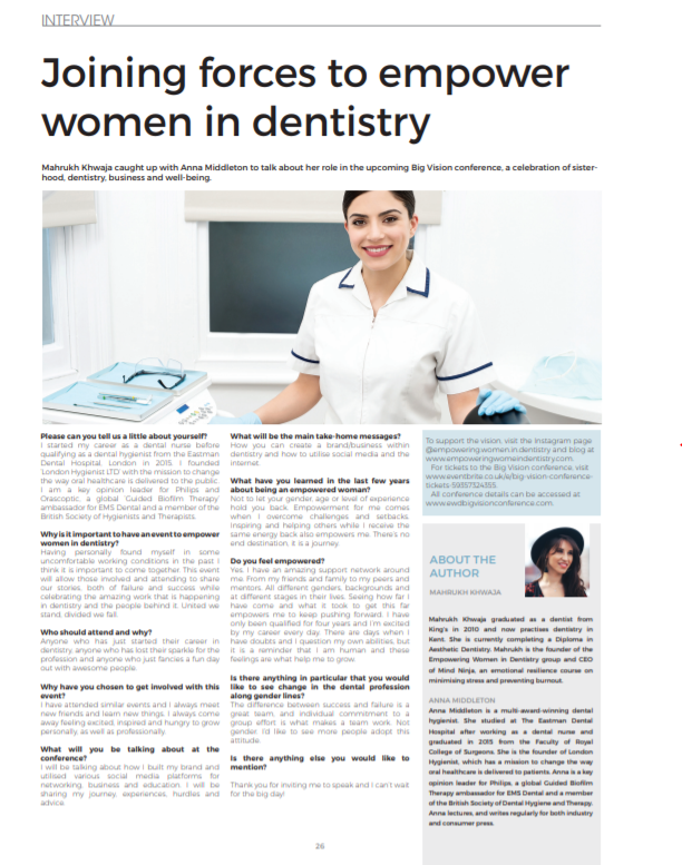 Anna Middleton in Dental Health