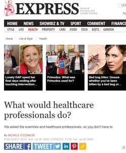 London Hygienist in Daily Express