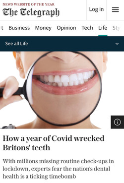 London Hygienist in The Telegraph
