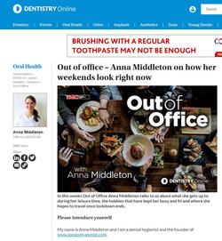 Anna Middleton in Dentistry Online