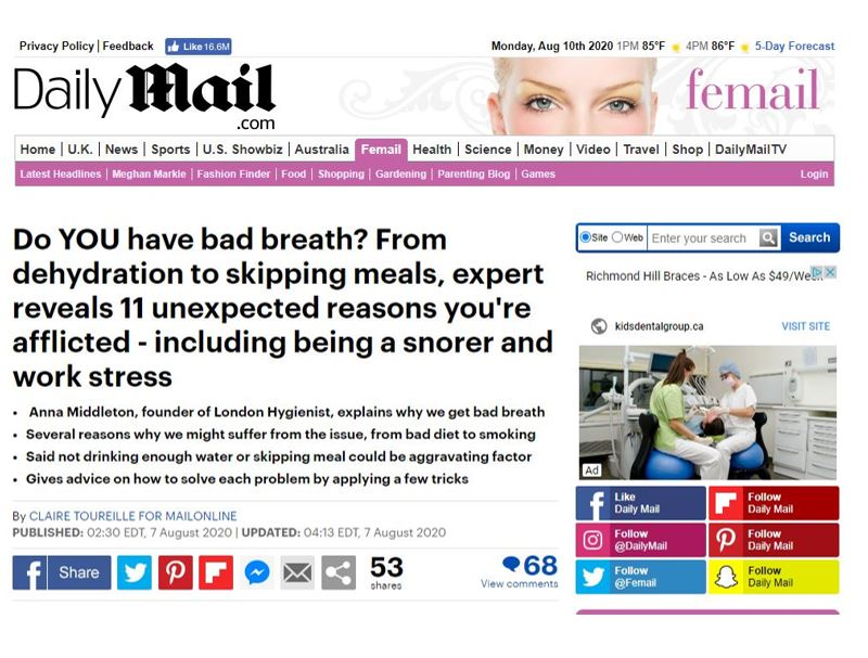 Anna Middleton in Daily Mail