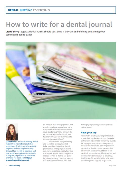 Dental Nursing - May 2019