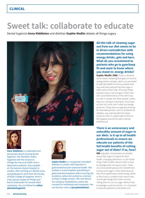 Anna Middleton in Dental Nursing Mag