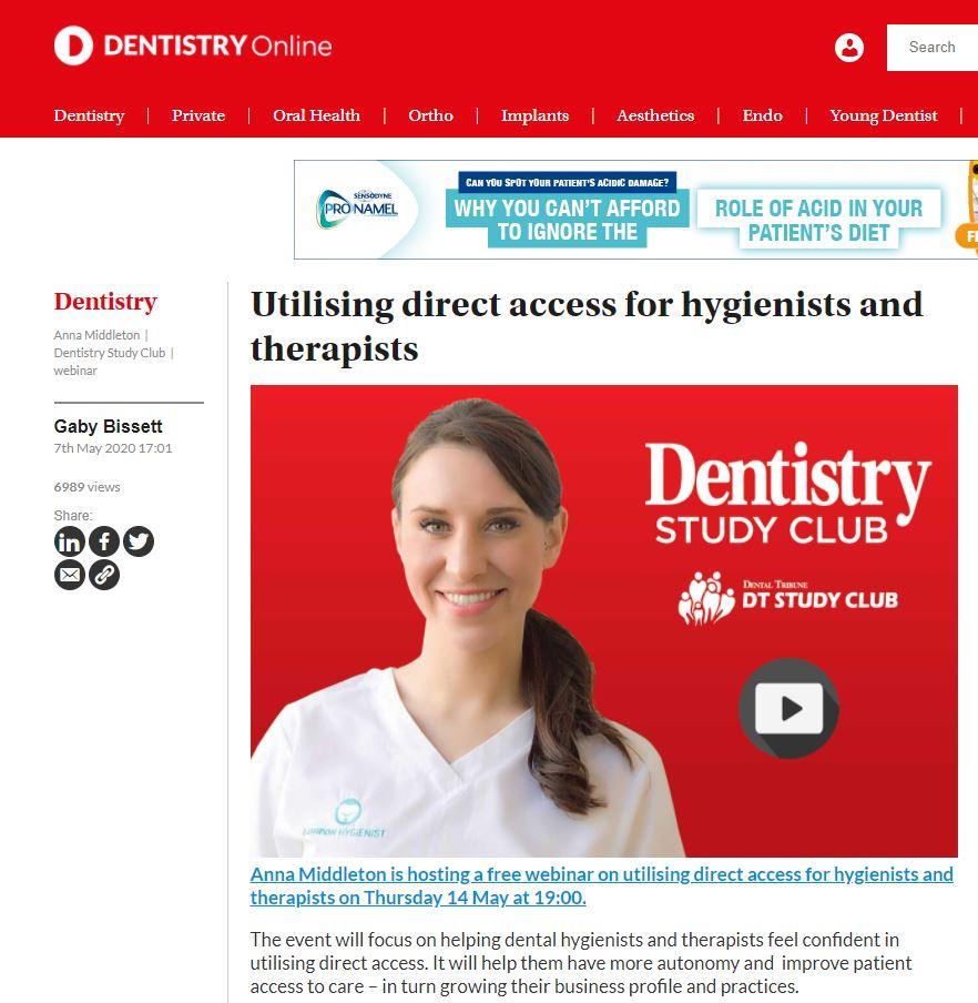 Anna Middleton in Denistry Online
