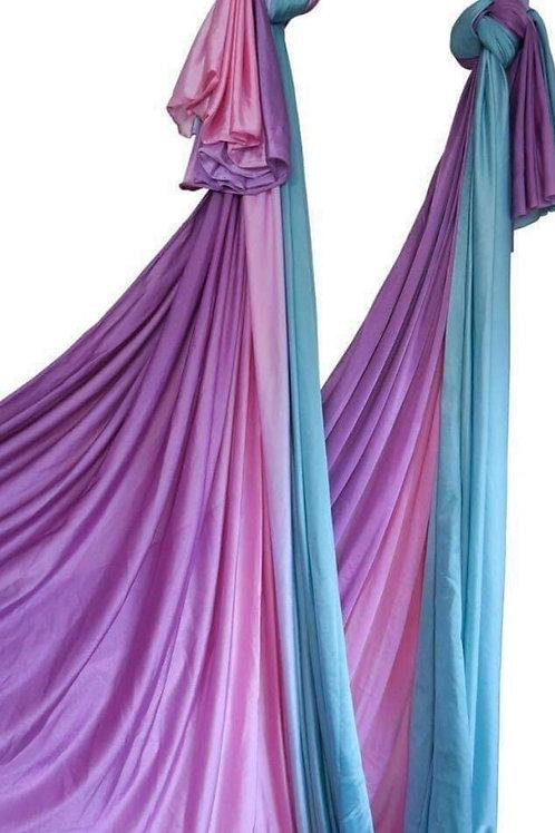 Ombre Aerial Hammock Rózsaszín-türkiz