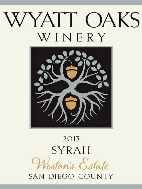 "2013 Syrah ""Weston's Estate"""
