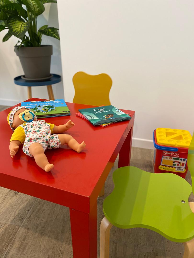 Espace enfant dans la salle d'attente