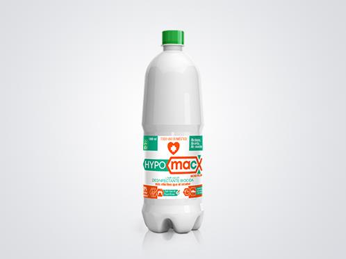 Hypomacx 1 Litro, Desinfectante Multiusos solución de Ácido Hipocloroso.