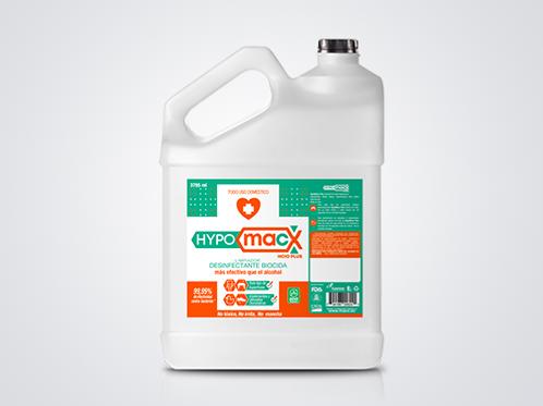 Hypomacx Galón, Desinfectante Multiusos solución de Ácido Hipocloroso.