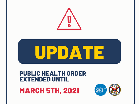 Public Health Order Extended