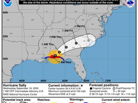 Hurricane Sally Update, 9/16/2020
