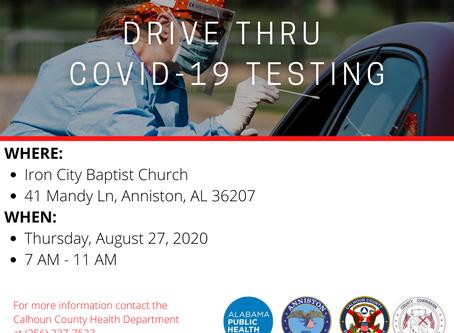 Calhoun County COVID-19 Update, 8/26/2020