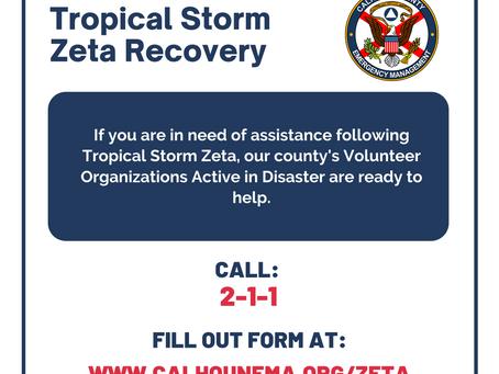 Calhoun County Update - Hurricane Zeta