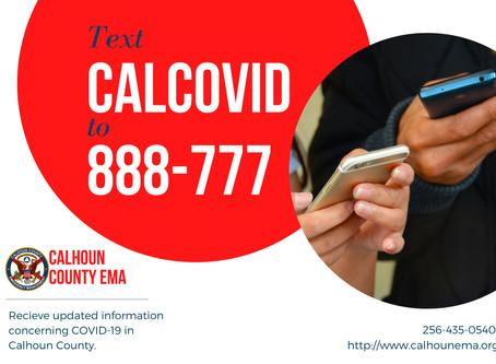 CALHOUN COUNTY COVID-19 TEXT UPDATES