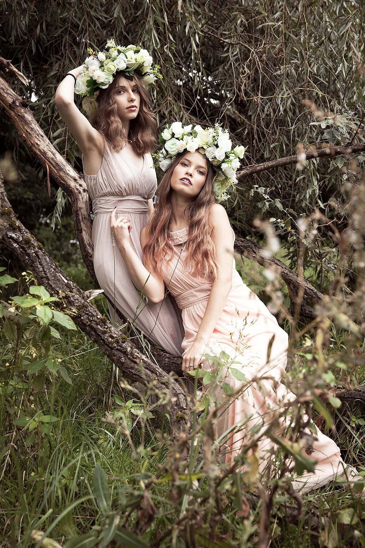 Sesja modowa inspirowana leśnymi nimfami