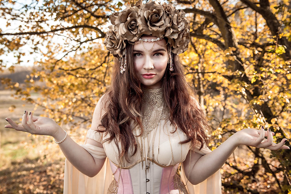Autumn queen, jesienny baśniowy portret