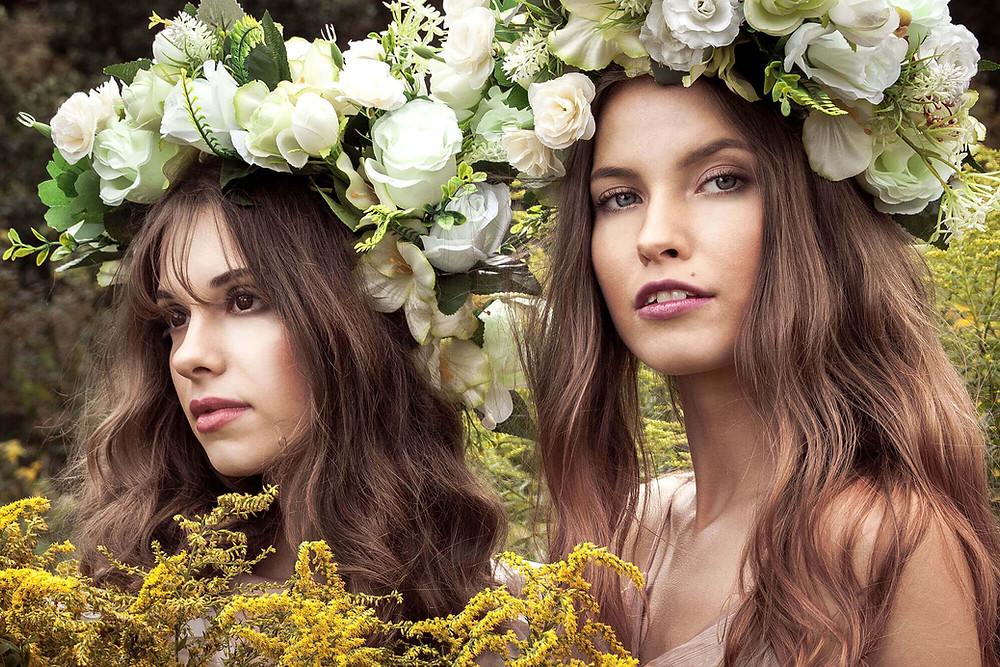 Baśniowy portret wśród kwiatów