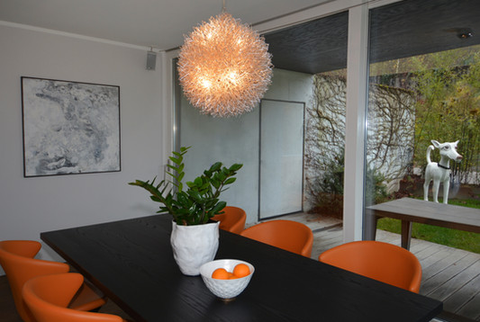 Table Dinner orange chandelier home Interior Design