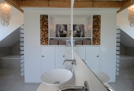 Bathroom Wood White Chandelier
