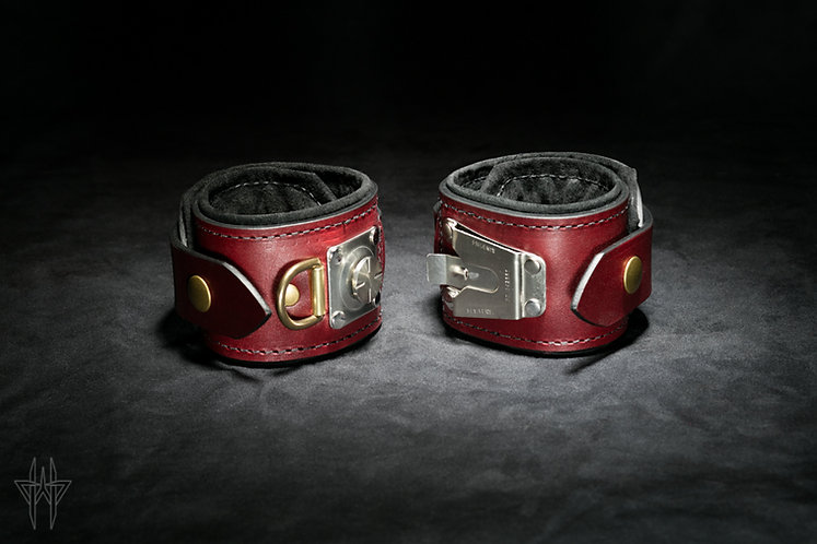 Slide-Lock Ankle Cuffs (Oxblood)