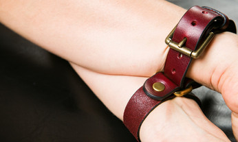 Oxblood Secret Cuffs