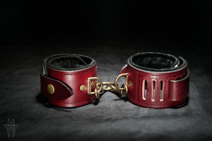 Oxblood Wrist Cuffs