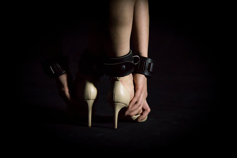 Wolfram Leather Bondage Cuffs