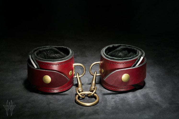 Ankle Cuffs (Oxblood)