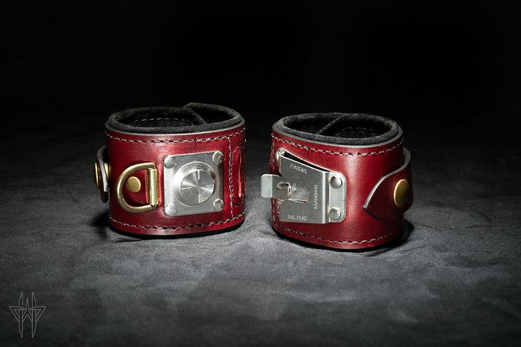 Slide-Lock Wrist Cuffs (Oxblood)