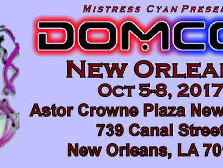 We're Vending At DOMCON II In NOLA 10/5-8