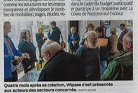 Wipsee - Article Sud-Ouest Novembre 2019